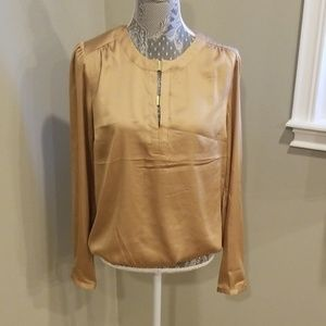 The Limited gold long sleeve blouse